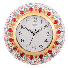 ecraftindia-wooden-papier-mache-ornamental-handcrafted-wall-clock_1