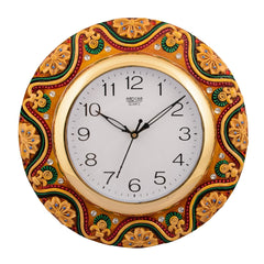 ecraftindia-wooden-papier-mache-dazzling-handcrafted-wall-clock_1