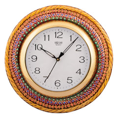 ecraftindia-wooden-papier-mache-glorious-handcrafted-wall-clock_1