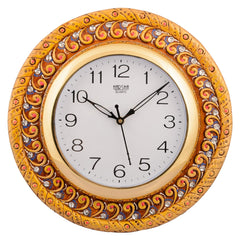 ecraftindia-wooden-papier-mache-elegant-handcrafted-wall-clock_1