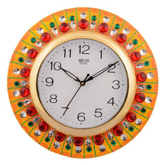 ecraftindia-wooden-papier-mache-embossed-crystals-handcrafted-wall-clock_1