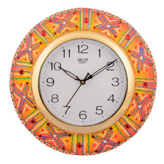 ecraftindia-wooden-papier-mache-artistic-handcrafted-wall-clock_1