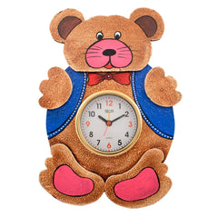eCraftIndia Wooden Papier Mache Kids Handcrafted Wall Clock