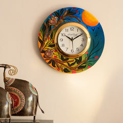 eCraftIndia Sunrise View Decorative Wooden Handcrafted Wall Clock