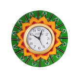 kwc577-ecraftindia-crystal-studded-floral-shape-wooden-handcrafted-wall-clock_2