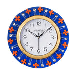 ecraftindia-crystal-and-geometric-blocks-studded-blue-wooden-handcrafted-wall-clock_2
