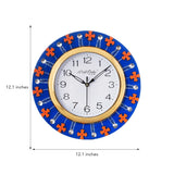 ecraftindia-crystal-and-geometric-blocks-studded-blue-wooden-handcrafted-wall-clock_3