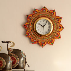kwc597-ecraftindia-royal-and-elegant-decorative-papier-mache-wooden-handcrafted-wall-clock_1