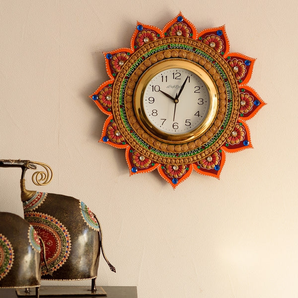 kwc598-ecraftindia-royal-and-elegant-decorative-papier-mache-wooden-handcrafted-wall-clock_1
