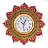 kwc598-ecraftindia-royal-and-elegant-decorative-papier-mache-wooden-handcrafted-wall-clock_2
