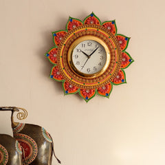 kwc599-ecraftindia-royal-and-elegant-decorative-papier-mache-wooden-handcrafted-wall-clock_1