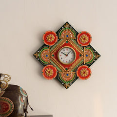 kwc601-ecraftindia-designer-and-colorful-papier-mache-wooden-handcrafted-wall-clock_1
