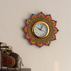 kwc602-ecraftindia-sublime-and-decorative-papier-mache-wooden-handcrafted-wall-clock_1