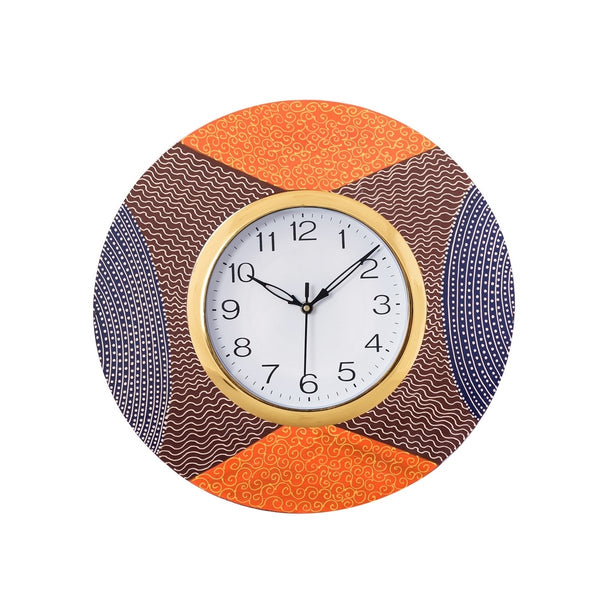 kwc615-ecraftindia-decorative-handcrafted-orange-wooden-wall-clock_1