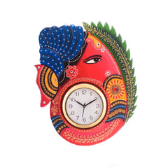 kwc623-ecraftindia-turban-lord-ganesha-coloful-wooden-handcrafted-wooden-wall-clock-h-18inch_1