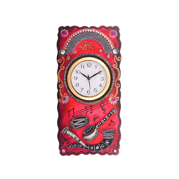 kwc625-ecraftindia-musical-instruments-embossed-coloful-wooden-handcrafted-wooden-wall-clock-h-19inch_1