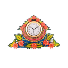 ecraftindia-splendid-floral-wooden-handcrafted-wooden-wall-clock-h-19-inch_1