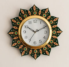 ecraftindia-sublime-and-decorative-papier-mache-wooden-handcrafted-wall-clock_1