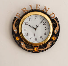 ecraftindia-friends-carved-papier-mache-wooden-handcrafted-wall-clock_1