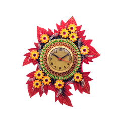 kwc670-ecraftindia-handcrafted-papier-mache-leaf-shape-wall-clock_1