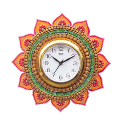 kwc685-ecraftindia-analog-wall-clock-orange-green-with-glass_1