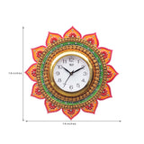 kwc685-ecraftindia-analog-wall-clock-orange-green-with-glass_3