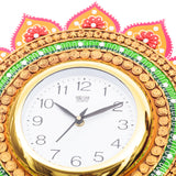 kwc685-ecraftindia-analog-wall-clock-orange-green-with-glass_5