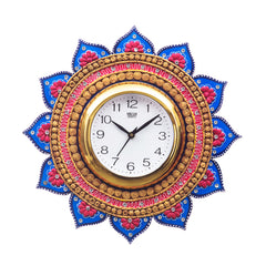 kwc687-ecraftindia-analog-wall-clock-gold-blue-with-glass_1