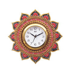 kwc689-ecraftindia-analog-wall-clock-orange-gold-with-glass_1
