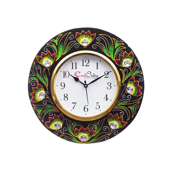 kwc692-ecraftindia-analog-wall-clock-red-green-with-glass_1