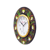 kwc692-ecraftindia-analog-wall-clock-red-green-with-glass_4
