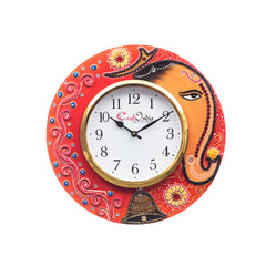 kwc694-ecraftindia-analog-wall-clock-red-green-with-glass_1