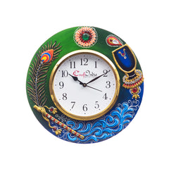 kwc696-ecraftindia-analog-wall-clock-red-green-with-glass_1