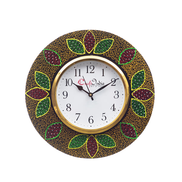 kwc697-ecraftindia-analog-wall-clock-red-green-with-glass_1