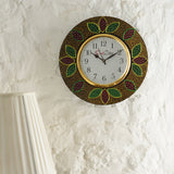 kwc697-ecraftindia-analog-wall-clock-red-green-with-glass_2