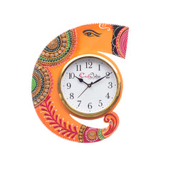 kwc699-ecraftindia-handicraft-lord-ganesha-analog-wall-clock-orange-maroon-with-glass_1