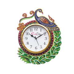 kwc700-ecraftindia-handicraft-peacock-analog-wall-clock-green-with-glass_1