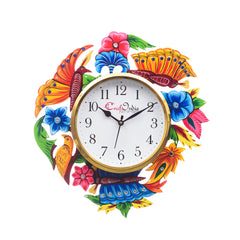 kwc707-ecraftindia-analog-wall-clock-pink-blue-green-with-glass_1