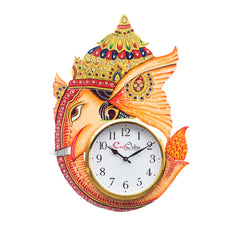 kwc708-ecraftindia-analog-wall-clock-orange-with-glass_1