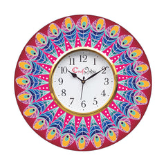 kwc909-ecraftindia-ethnic-design-wooden-colorful-round-wall-clock_1