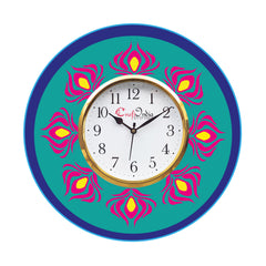 kwc910-ecraftindia-ethnic-design-wooden-colorful-round-wall-clock_1
