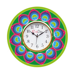 kwc914-ecraftindia-ethnic-design-wooden-colorful-round-wall-clock_1