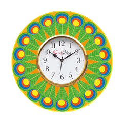 kwc916-ecraftindia-ethnic-design-wooden-colorful-round-wall-clock_1