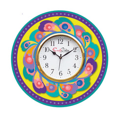 kwc929-ecraftindia-ethnic-design-wooden-colorful-round-wall-clock_1