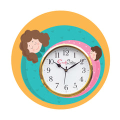kwc935-ecraftindia-mother-dauthter-relationship-theme-wooden-colorful-round-wall-clock_1