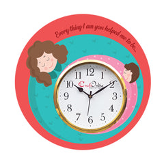kwc937-ecraftindia-mother-dauthter-relationship-theme-wooden-colorful-round-wall-clock_1