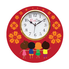 kwc939-ecraftindia-friendship-theme-wooden-colorful-round-wall-clock_1