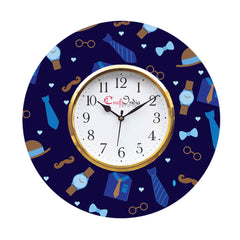 kwc944-ecraftindia-love-gift-with-tie-specs-watch-and-moustache-theme-wooden-colorful-round-wall-clock_1