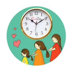 kwc947-ecraftindia-mother-daughter-love-theme-wooden-colorful-round-wall-clock_1