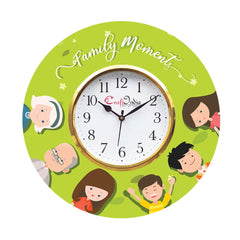 kwc950-ecraftindia-family-moments-theme-wooden-colorful-round-wall-clock_1